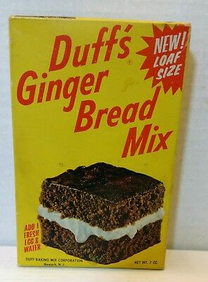 Vintage Duff's Ginger Bread Mix Unopened Box W/Bing Crosby Ad