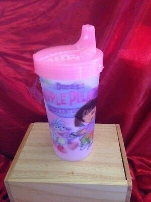 Lot Of 2 Toddlers Sippy Cups Dora The Exlorer 3D Design  9 Oz New