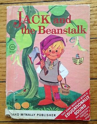 Vintage Childrens Book Rand McNally Junior Elf ~ JACK AND THE BEANSTALK #8167