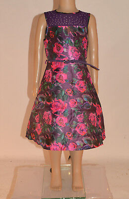 NWT BHS Tammy Girls Purple Pink Floral Bridesmaid Party Dress Age 7-15 Years A20
