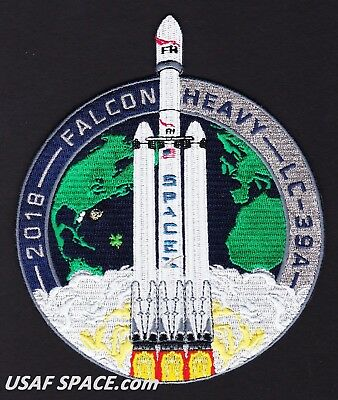 NEW SPACEX ORIGINAL FALCON HEAVY FH 1st Launch & Landing Mission PATCH