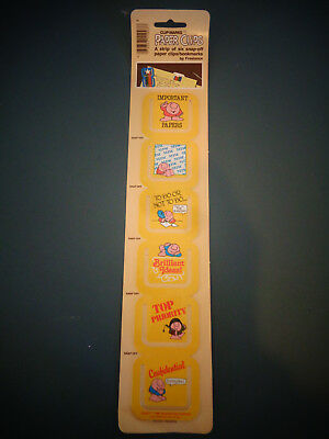 Vintage 1981 New Ziggy Cartoon Comic Strip Paper Clips Clip Marks Bookmarks