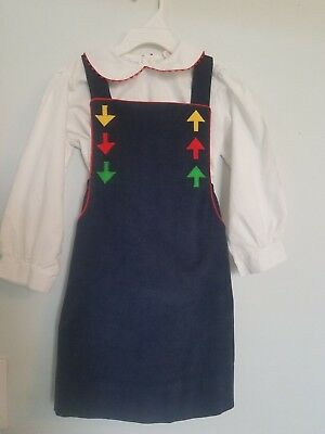 Vintage Girls 6X, Embroidered Fischel By Johnston Dress & Mary James Shirt Set!