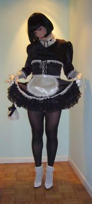 Sissy Maid Petticoat Size L/XL Fetish Crinoline Cosplay Slip For Crossdressers