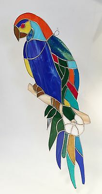 Giant Stained Glass     Parakeet       So  Beautiful !!  Handmade!!