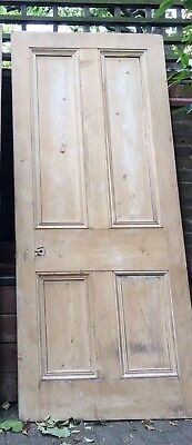 Lovely Reclaimed Old Pine Wooden  Victorian Large Interior Doors H210cmXW90cm