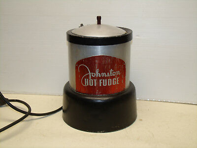 VINTAGE JOHNSTONS HOT FUDGE DISPENSER WORKS 1940s