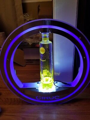 Ciroc Vodka LED Lighted Halo Bottle Holder. BRAND NEW