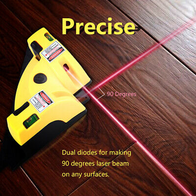 Measurement Tool Laser Level Right Angle 90 Degree Measure Cross Line Infrared