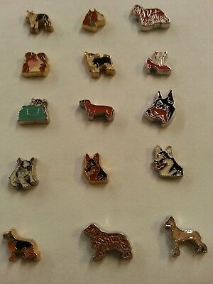 Dog Floating Memory Charms. You choose your breed and style.