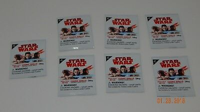 Star Wars Cosmic Shells Packages Lot of 7 SEALED 2017 Disney Winn Dixie Unopened