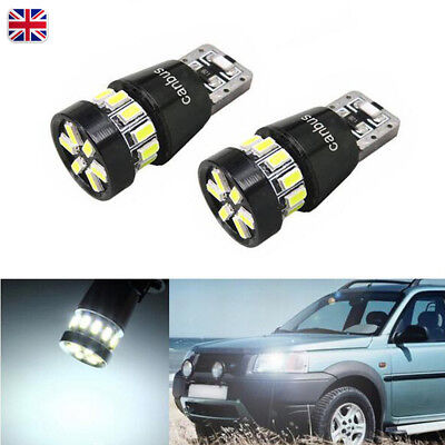 2x T10 W5W 18 SMD 3014 LED Car Sidelight Bulbs lamp Canbus ERROR FREE White