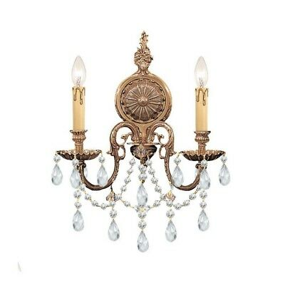 Crystorama 2702-OB-CL-S Novella - Two Light Wall Sconce