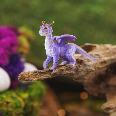 Miniature Dollhouse FAIRY GARDEN Mini Purple Dragon