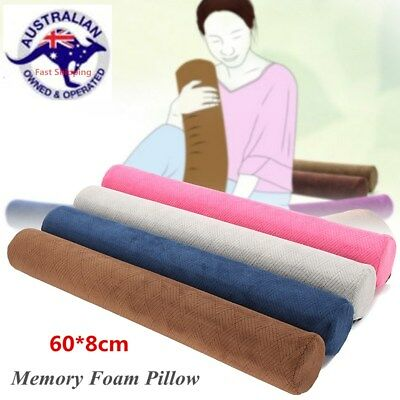 60X8cm Round Cervical Support Pillow Memory Foam Sleeping Positioning Roll Neck
