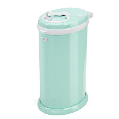 New Ubbi Newborn Baby Nappy Diaper Pail Bin - Mint Eco Friendly