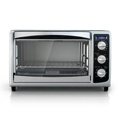 BLACK DECKER TO1675B 6 Slice Convection Countertop Toaster Oven Includes Bake