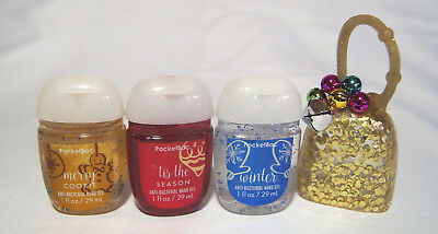 💚  Bath and Body Works 3-Pack PocketBac & Holder PERFECT CHRISTMAS    💚