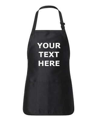 Customized Personalized Kitchen Apron with Pocket Own Text Message Business Name