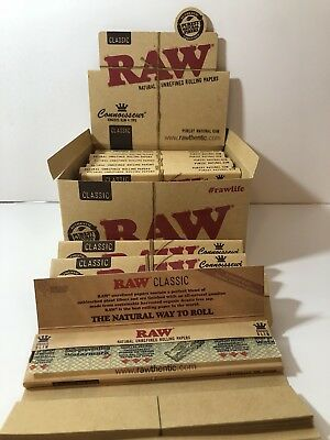 Authentic Raw Classic Connoisseur King Size Slim With Tips +Raw Roller 110 MM.