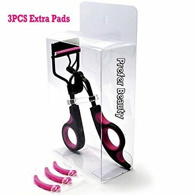 PREFER BEAUTY Eyelash Curler With 3PCS Rose Refill Pads No Pinching, Painless