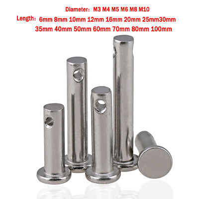 Solid Stainless Steel Clevis3/4/5/6/8/10mm Pins Link Hinge Pin Farming Sailing