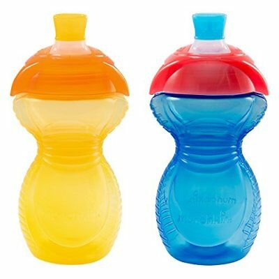 Click Lock Bite Proof Sippy Cup, Yellow/Blue, 9 Ounce, 2 Count - Munchkin