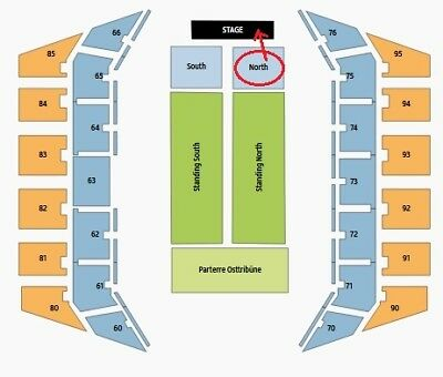 30 Seconds to Mars 17.04 2 x Golden Circle Parterre Nord Front of Stage FOS