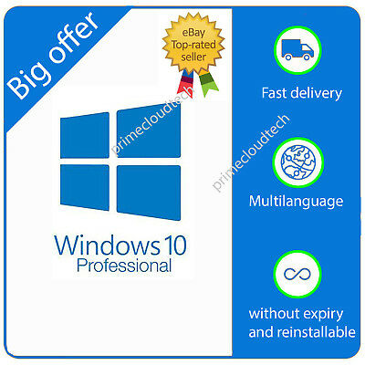Licenza Windows 10 Pro Professional Product Key/esd ORIGINAL/GENUINE