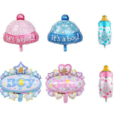 Foil Helium Balloon For Newborn Baby Boy Girl Shower Christening Birthday Party