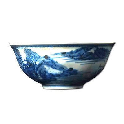 Excellent Rare Chinese Blue And White Painting Porcelain Bowl Beautiful Decor