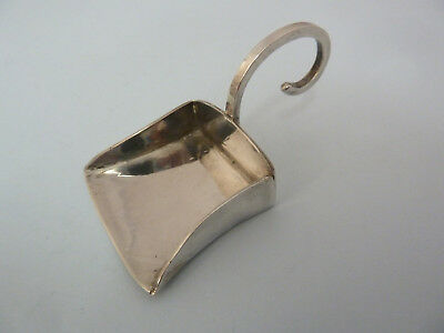 Modern SOLID Silver CADDY Shovel, London 1991. HA Crawshaw, NEWBURY