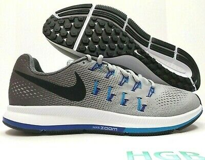size 40 74139 c7bbb NIKE AIR ZOOM Pegasus 33 Mens Grey Blue White Running Training 831352-004  NIB