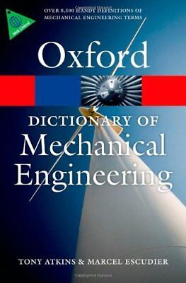 Dictionary of Mechanical Engineering New Paperback Book