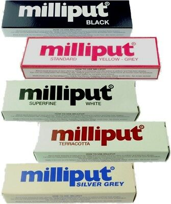 Milliput Standard Terracotta Silver Black White DIY Epoxy Putty Model Sculpting