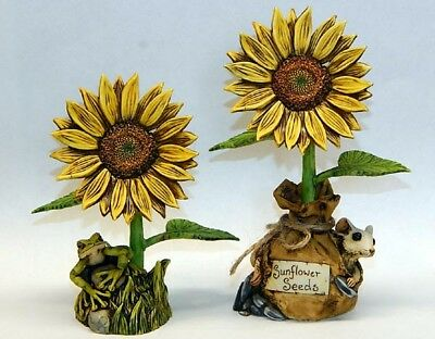 Harmony Kingdom Artist Neil Eyre Designs Mouse Sunflower Flower Seeds LE 50