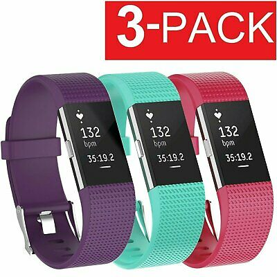 3 Pack Replacement  Band for Fitbit Charge 2 Bracelet Watch Rate Fitness