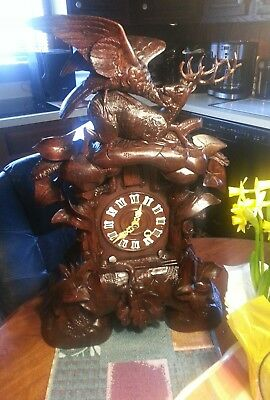 Antique Black Forest Cuckoo  Clock  Shelf Mantle An Original B/f