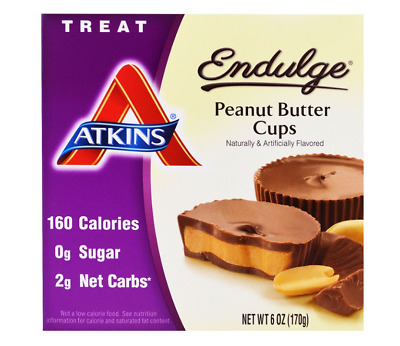 7Packs-Atkins Endulge Peanut Butter Bar Healthy Food Nutritional Diet Snack Bars