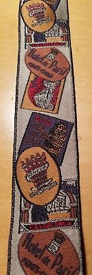 Vtg Woven Silk Hotel Luggage Labels/Braces/Suspenders New Without Tags
