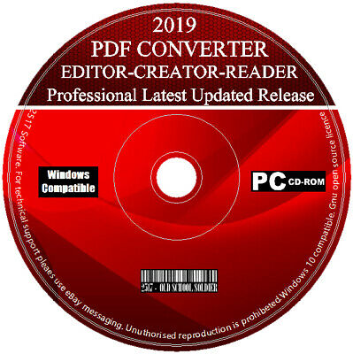 2019 Pro PDF Suite - Convert & Edit - PDF To Word Creator - For Windows 7 8 10