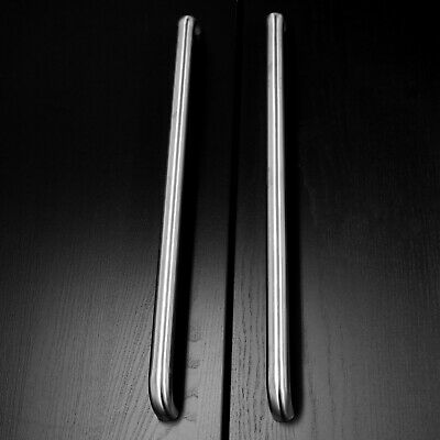Large Door Pull Handles 800mm 1000mm 1200mm Brushed Stainless Steel BoltFixings