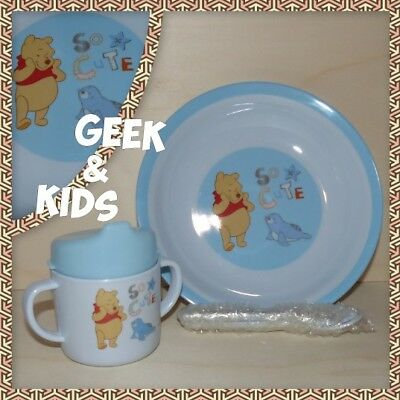 Set Complet de table Enfant - Ensemble - Winni l'ourson - Winnie the Pooh - Neuf