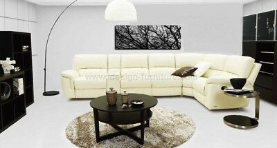 LEATHER SECTIONAL SOFA - Top Grain REAL Leather - W/ POWER Recliner ...