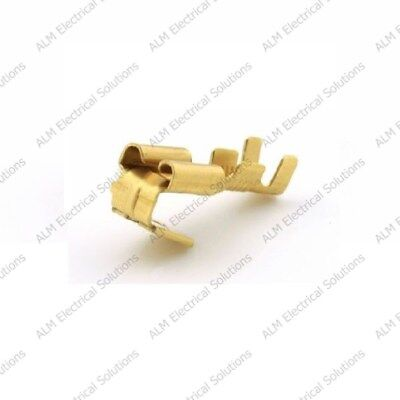 Brass 6.3mm Female Piggy Back Spade Terminals - Non-Insulated Connectors