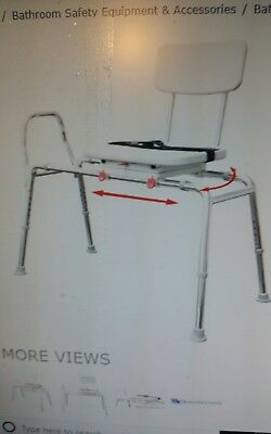 Eagle Healthcare Snap and Save 77662 Swivel Seat Sliding Bath Transfer Bench