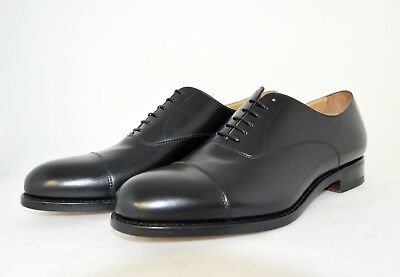 MAN-9eu-10us-OXFORD CAPTOE-FRANCESINA-BLACK CALF-VITELLO-LEATHER SOLE