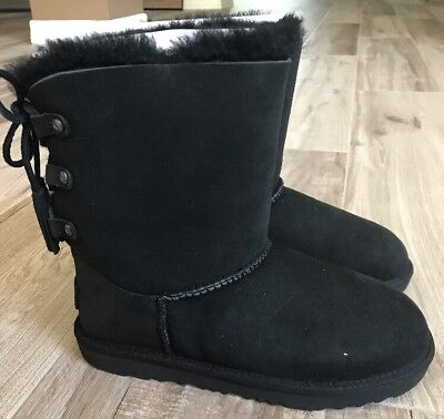 ed537614eb4 UGG SIZE 5 Black W Patten Uggs New With Box! - $135.00 | PicClick