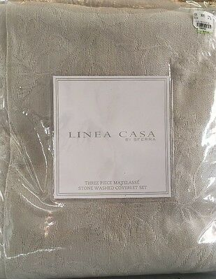Sferra Linea Casa Matelasse Stone Washed Full/queen Coverlet Set