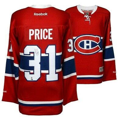 70e4acdfd Carey Price Montreal Canadiens Hand Signed Authenticated Autograph Jersey
